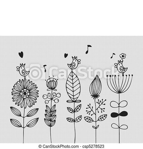 flor, tarjeta - csp5278523