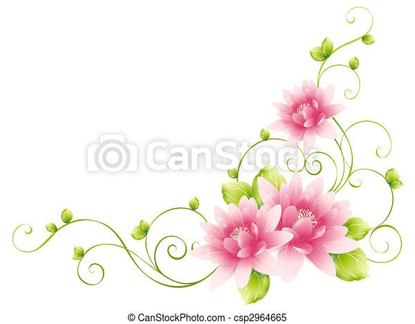 Flores y enredaderas - csp2964665