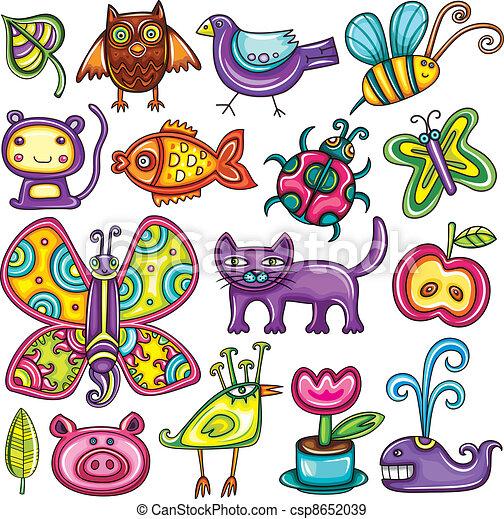 Flora and fauna theme. - csp8652039