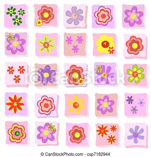Flora illustraion background - csp7182944