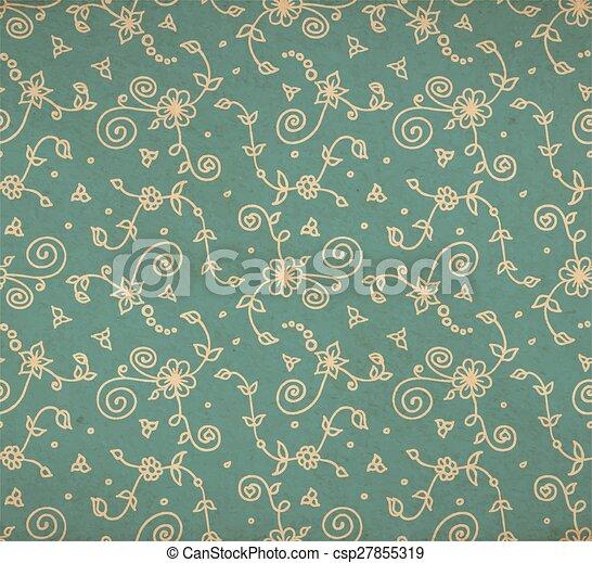 Florad Old Wallpaper Vecotr Vintage Floral Background In Victorian