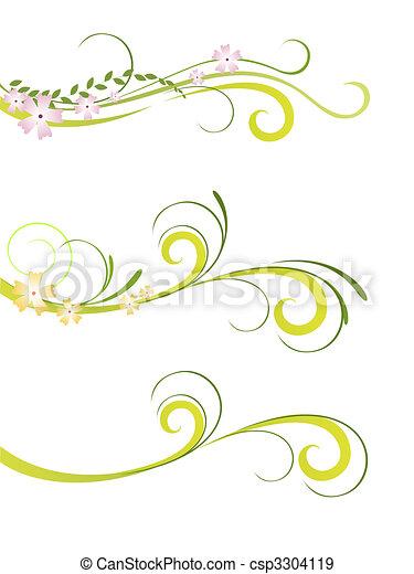 floral, élégant, conception - csp3304119
