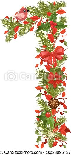 1 Weihnachten.Floral 1 Baum Weihnachten Zahl