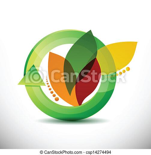 floral 360 design concept illustration design - csp14274494