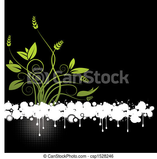 floral, abstract, vector - csp1528246