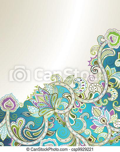 floral, abstratos - csp9929221