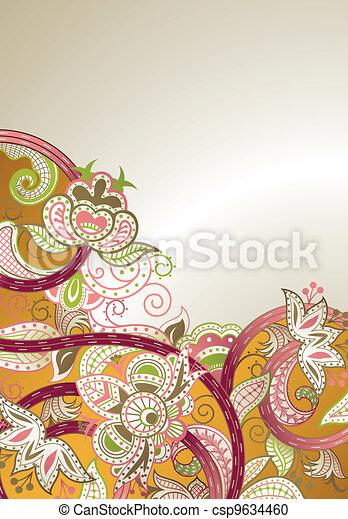 floral, abstratos - csp9634460