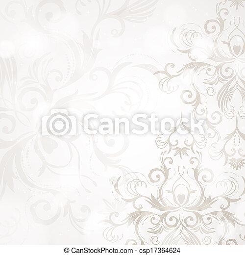 floral, abstratos, fundo - csp17364624