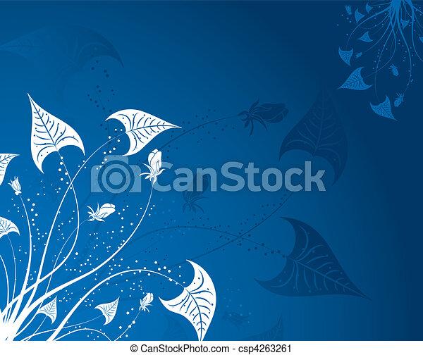 floral, abstratos, fundo - csp4263261