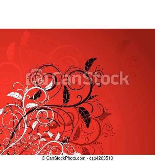floral, abstratos, fundo - csp4263510