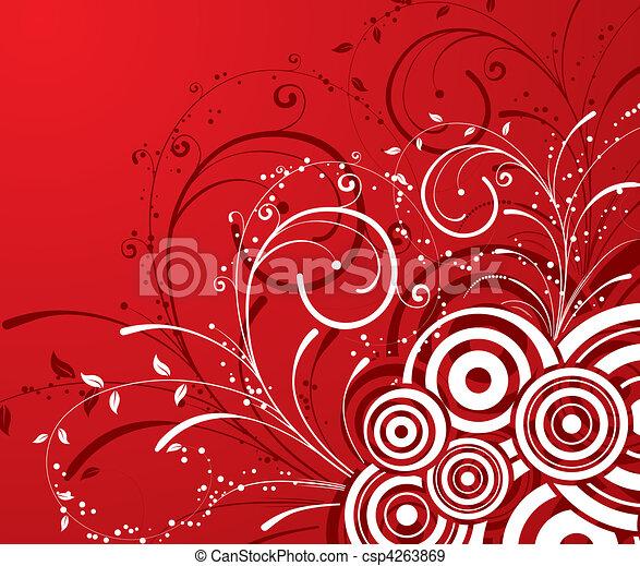 floral, abstratos, fundo - csp4263869