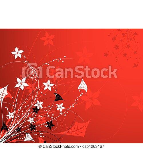 floral, abstratos, fundo - csp4263467