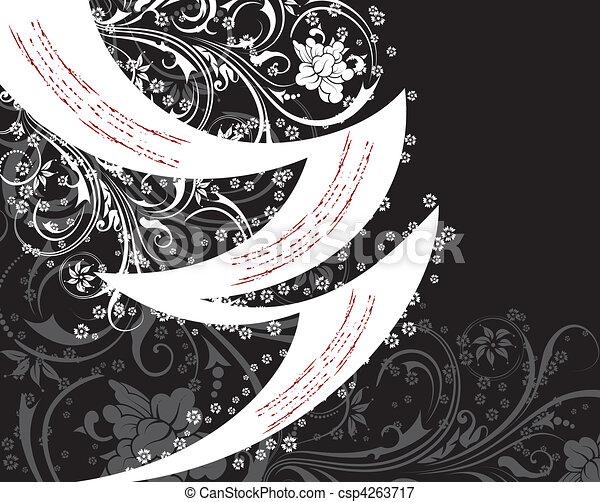 floral, abstratos, fundo - csp4263717