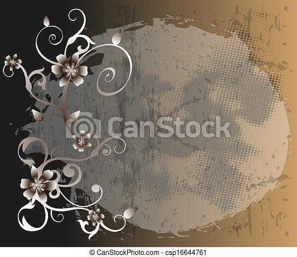 floral, abstratos, fundo - csp16644761