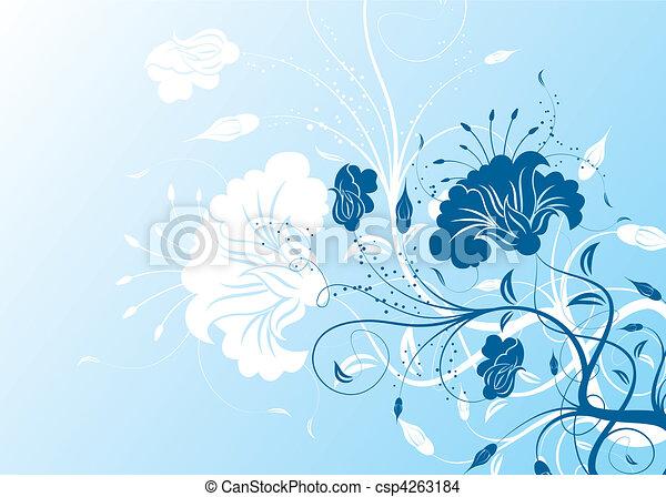 floral, abstratos, fundo - csp4263184