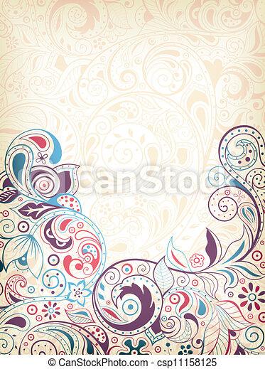 floral, abstratos - csp11158125