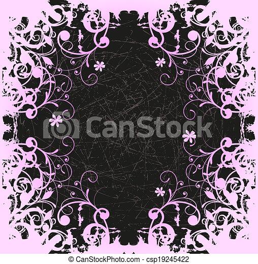floral, abstratos - csp19245422