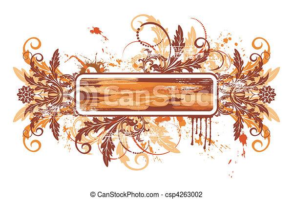 floral, abstratos - csp4263002