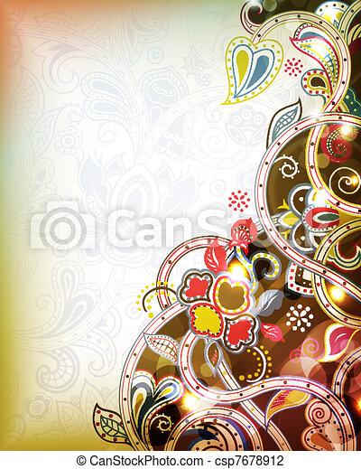 floral, abstratos - csp7678912