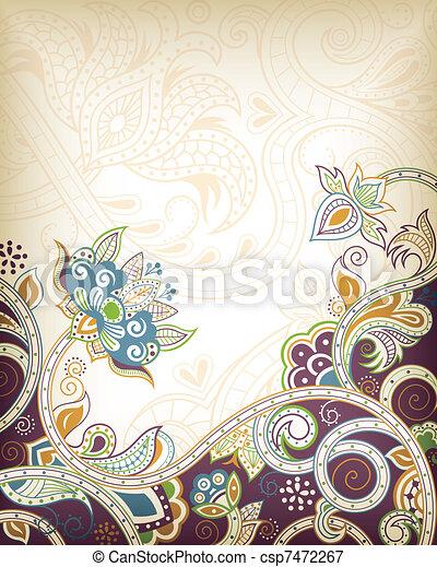 floral, abstratos - csp7472267