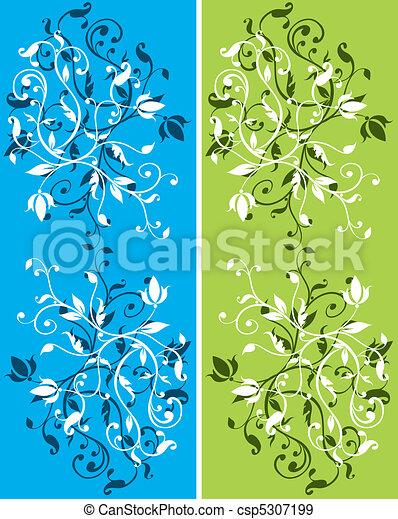floral, abstratos, jogo, fundos - csp5307199