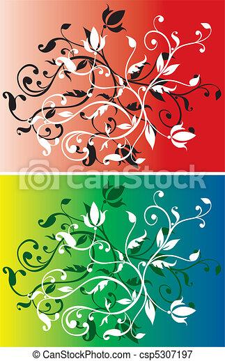 floral, abstratos, jogo, fundos - csp5307197