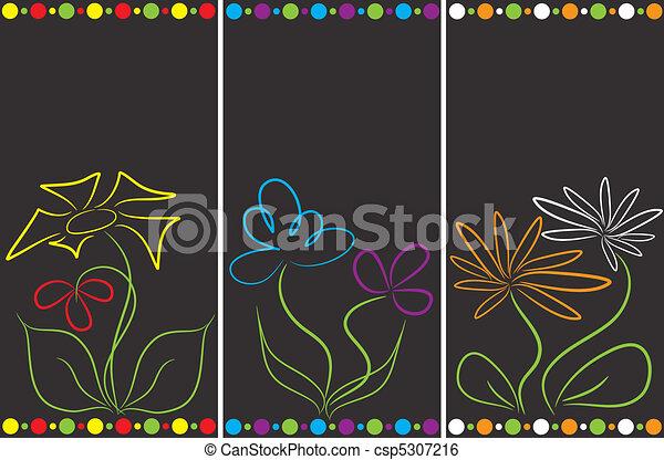 floral, abstratos, jogo, fundos - csp5307216
