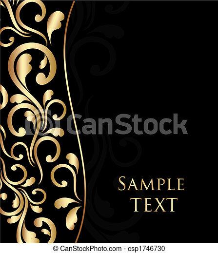 floral, abstratos, ornamento, ondas - csp1746730