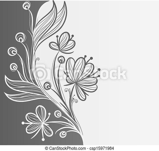 floral, abstratos, ou, fundo, modelo - csp15971984
