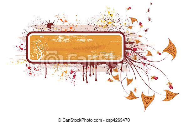 floral, abstratos, quadro - csp4263470