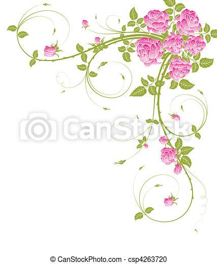 floral, abstratos, quadro - csp4263720