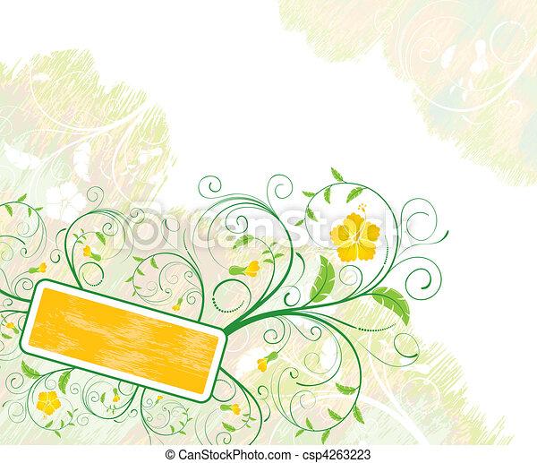 floral, abstratos, quadro - csp4263223