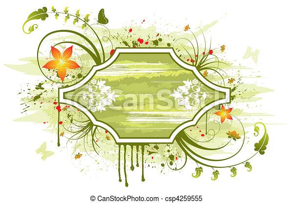 floral, abstratos - csp4259555
