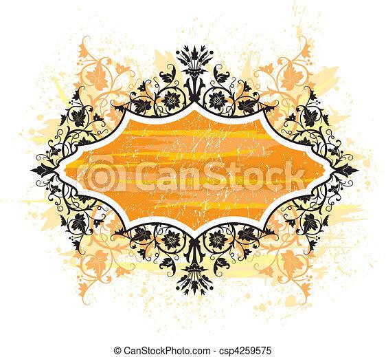 floral, abstratos - csp4259575