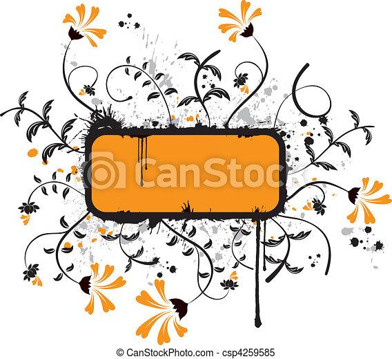floral, abstratos - csp4259585