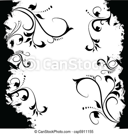 floral, abstratos - csp5911155