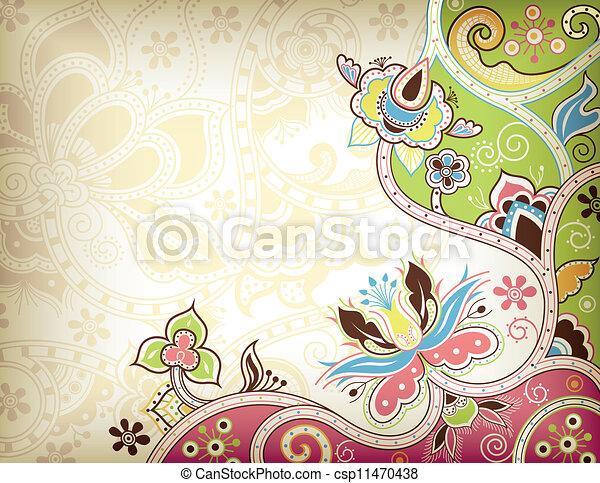 floral, abstratos - csp11470438