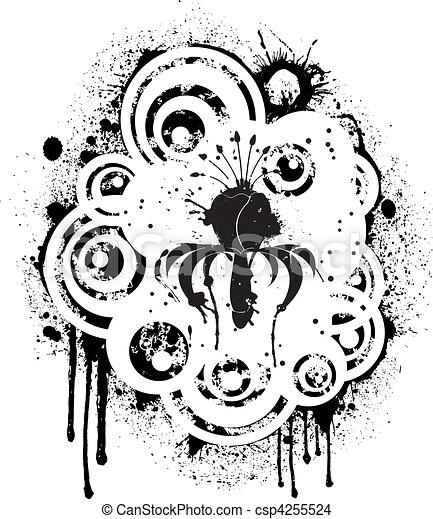 floral, abstratos - csp4255524