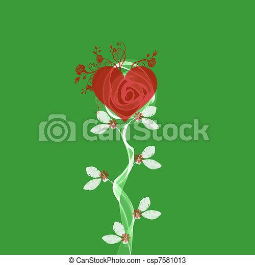 floral, abstratos - csp7581013