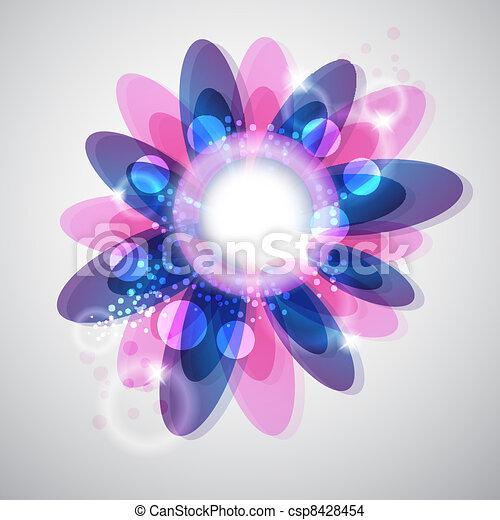 floral, abstratos - csp8428454