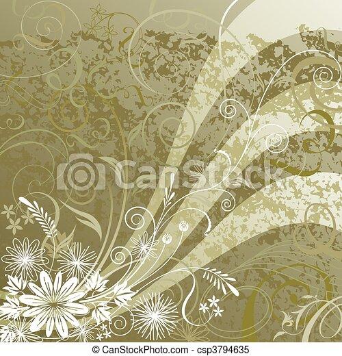 floral, achtergrond - csp3794635