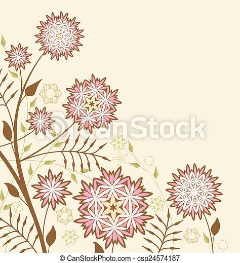 floral, achtergrond - csp24574187