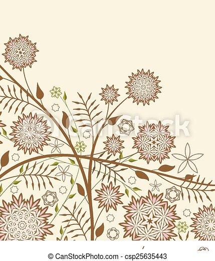 floral, achtergrond - csp25635443