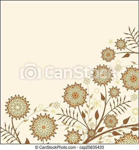 floral, achtergrond - csp25635433