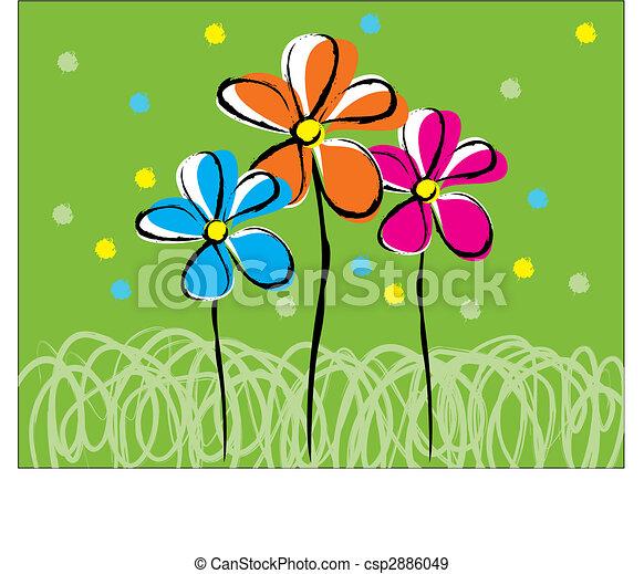 Amigos florales - csp2886049