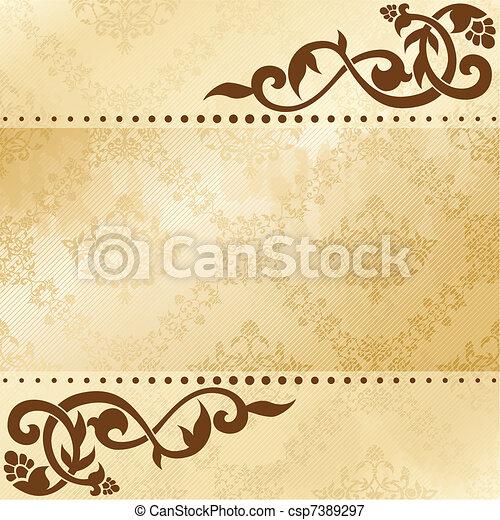 Floral arabesque background - csp7389297