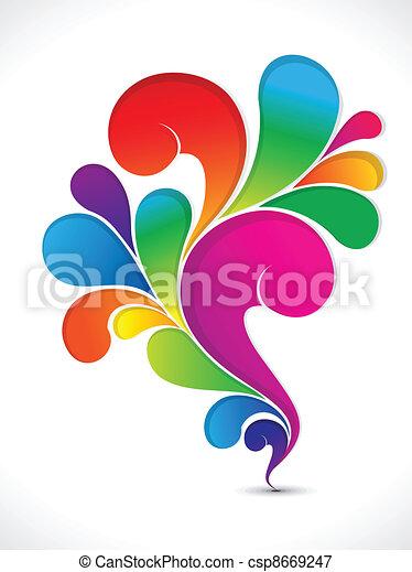 Abstracción floral del arco iris artístico - csp8669247