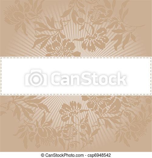 floral, arrière-plan beige - csp6948542