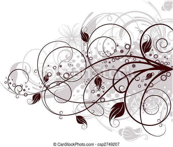 floral, arrière-plan. - csp2749207
