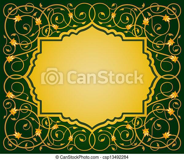 Frontera floral islámica - csp13492284